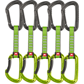 Ocun Falcon QD PA Kit de dégaines d'escalade 16mm 10cm 5-Packs, green